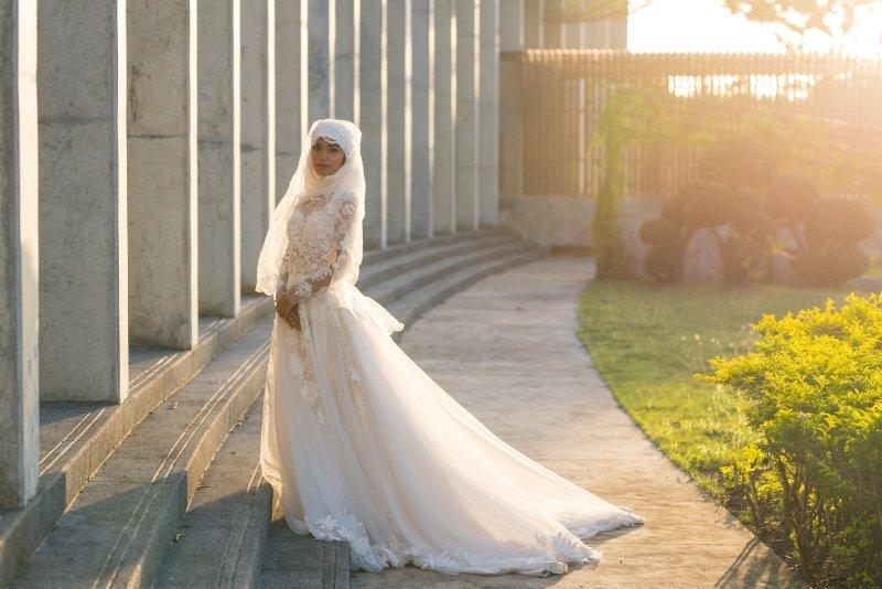 свадебное платье без кружев