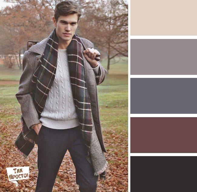 мужчина в пальто и свитере