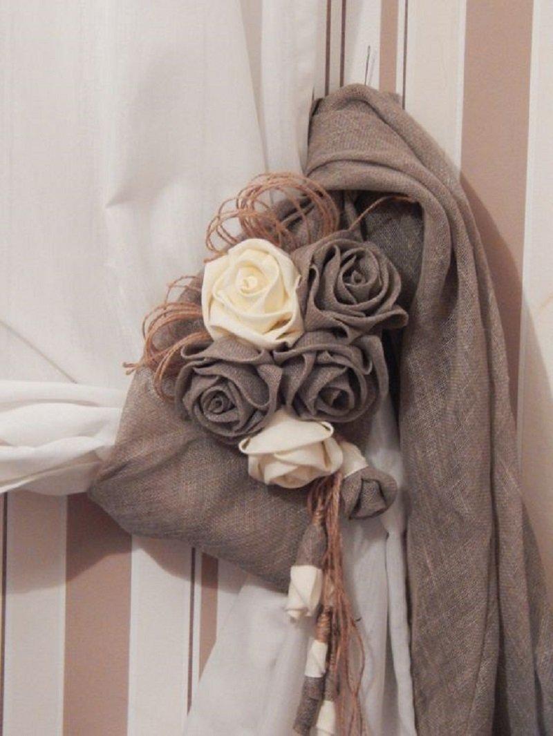 Цветы из мешковины - Стильный и современный дизайн интерьера для вас