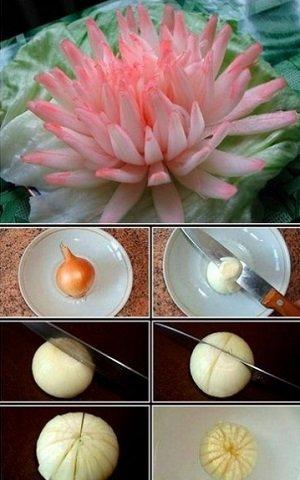 Как сделать цветок из лука видео фото 26