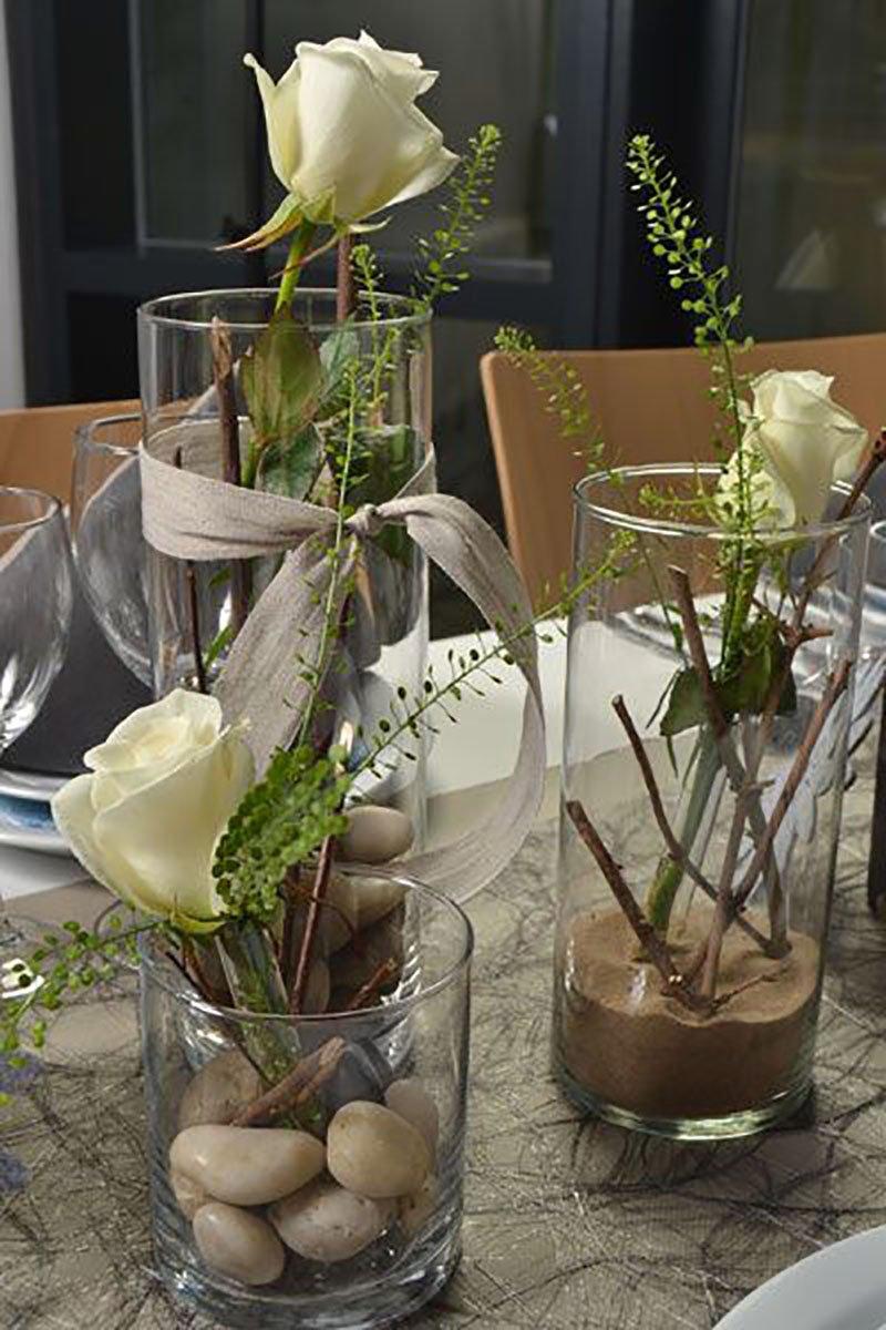 цветы в бокале