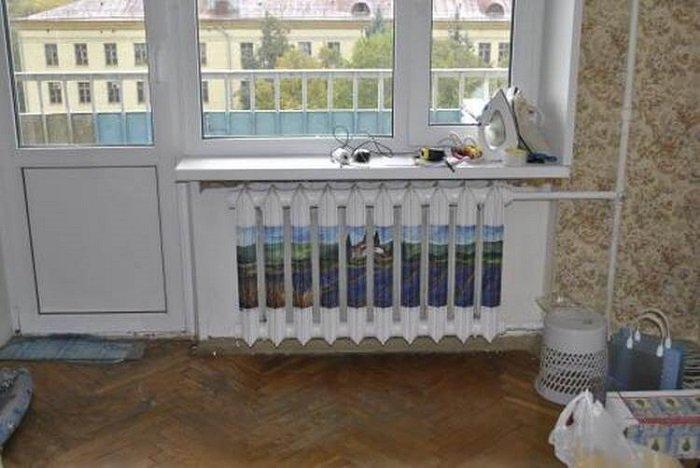 декор батареи в комнате