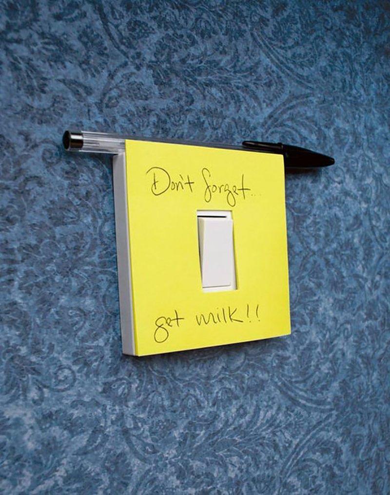 записки на выключателях