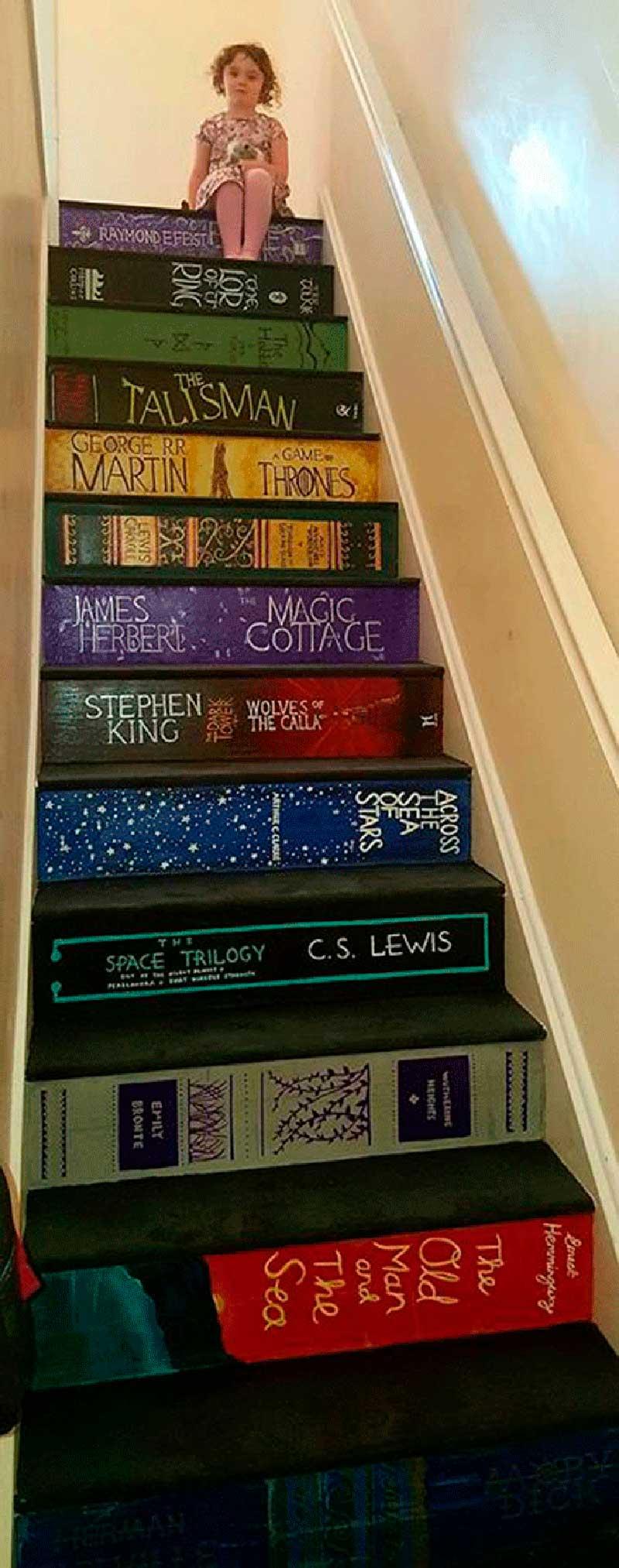 интерьер лестницы в частном доме