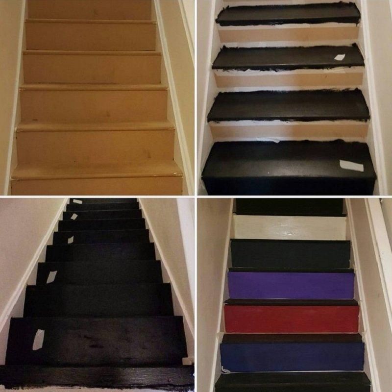 интерьер деревянной лестницы