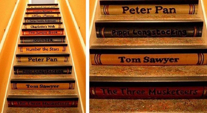 декор лестницы в доме