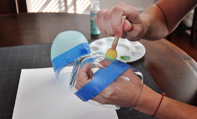как украсить посуду своими руками