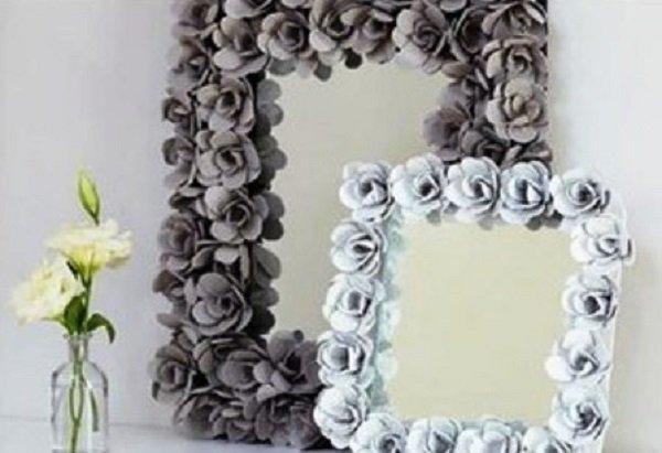 украсить зеркало своими руками фото