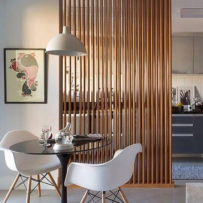 Новости PRO Ремонт - Как создать квартиру мечты для большой семьи на площади 41 м². Кто бы мог подумать… декоративные перегородки в комнате