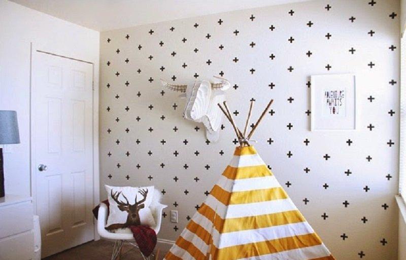декорирование стен гостинной