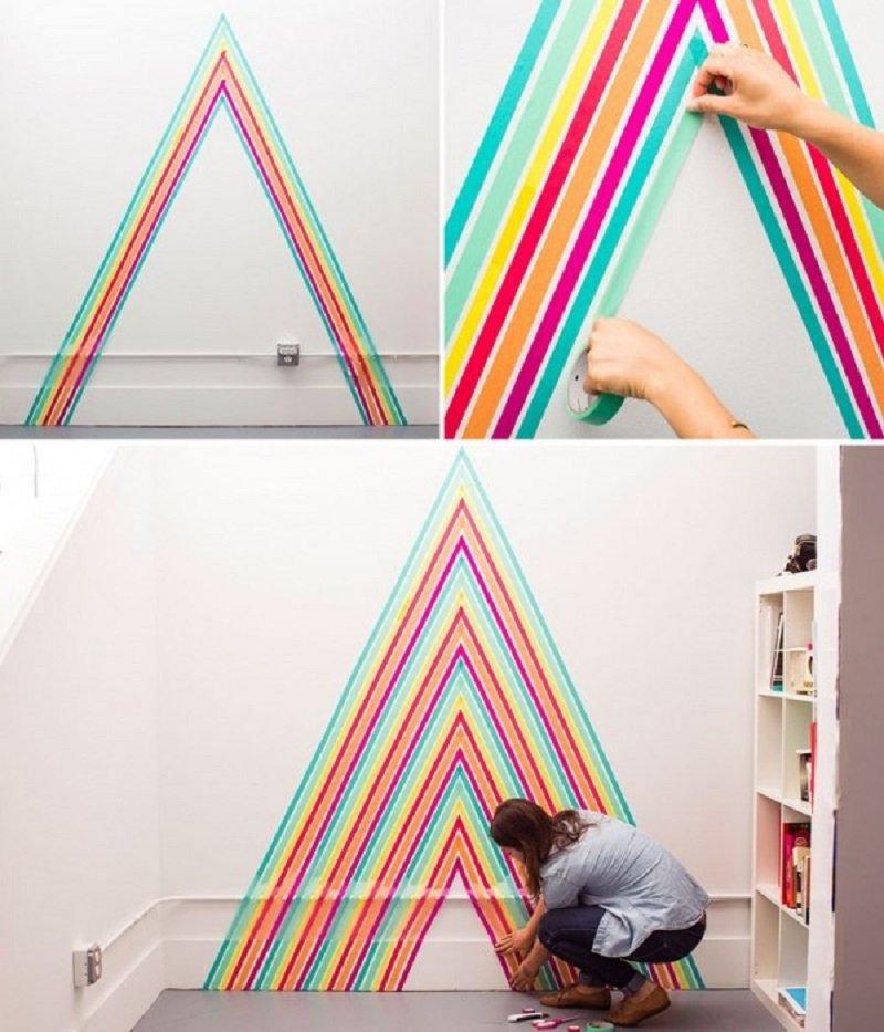 декорирование стен детской комнаты