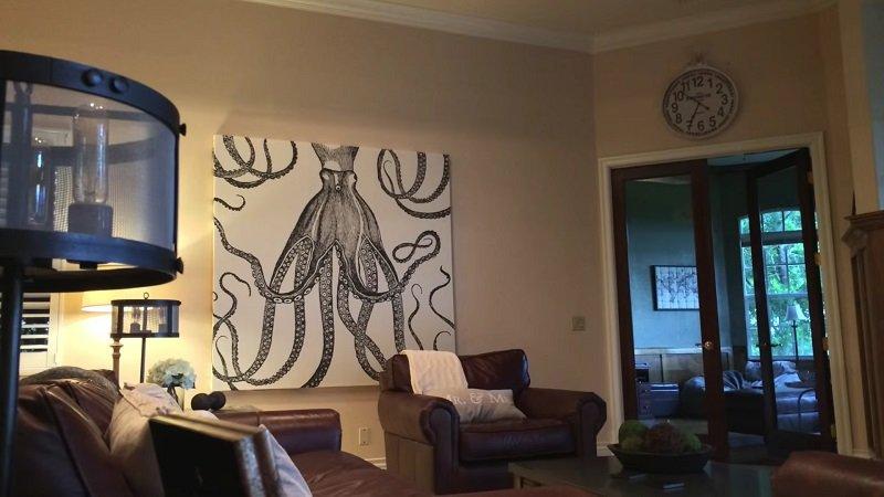 декорирование стен в спальне фото