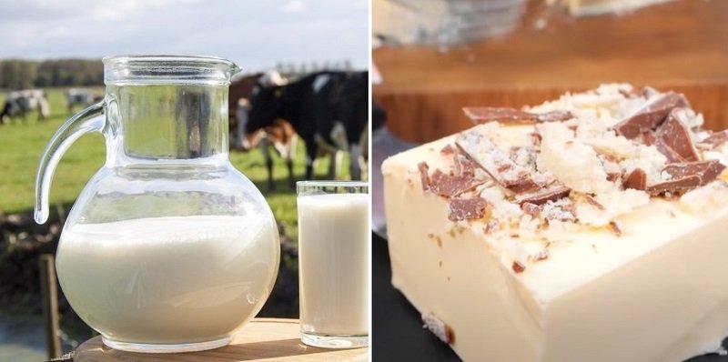 десерт из молока