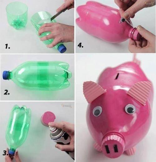 поросенок из бутылки