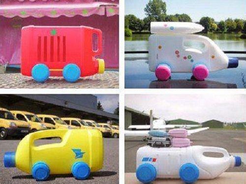 машина из пластиковых канистр