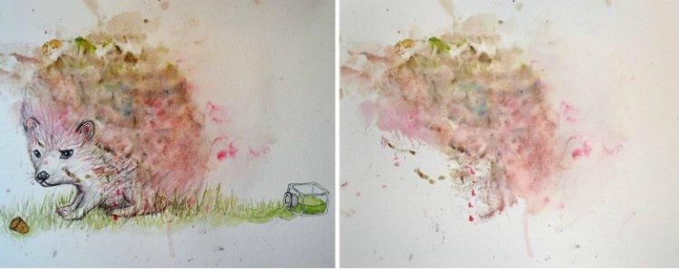 детские рисунки на стенах