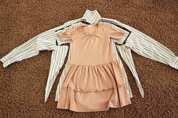 Детское платье из мужской сорочки