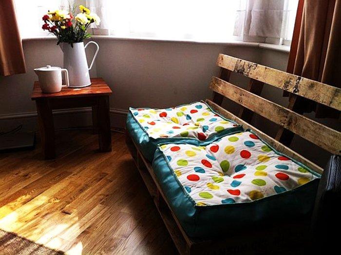 мебель из поддонов диван