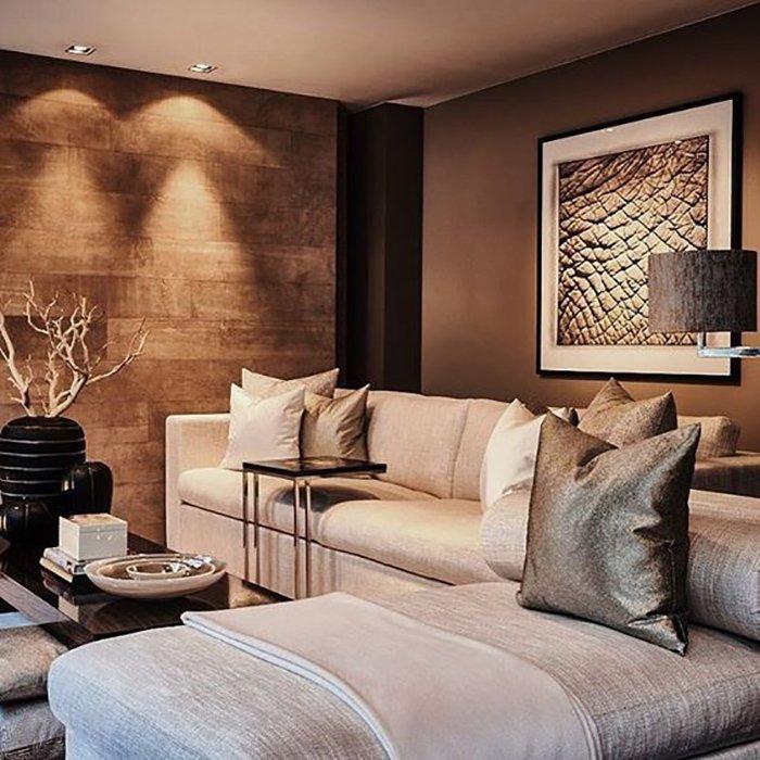 дизайн интерьера гостиной с аркой