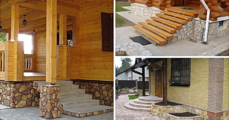 крыльцо дома дизайн