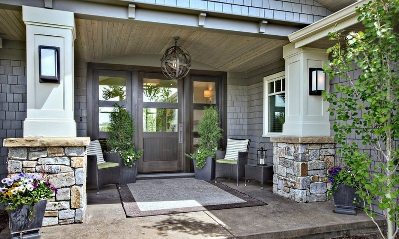 veranda domu s klenbou