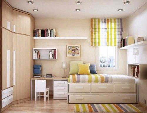 комната в пастельных тонах