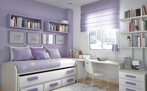 лиловый цвет,комната