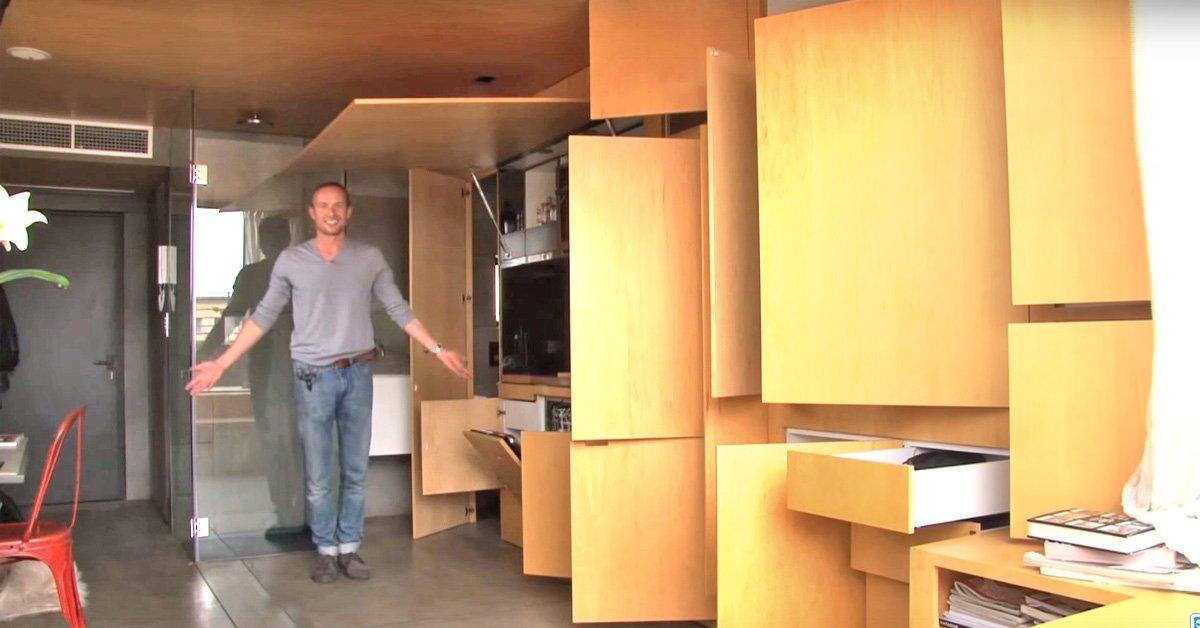 То, что он сделал на 24 м², просто не укладывается в голове! Лучший дизайн маленькой квартиры.