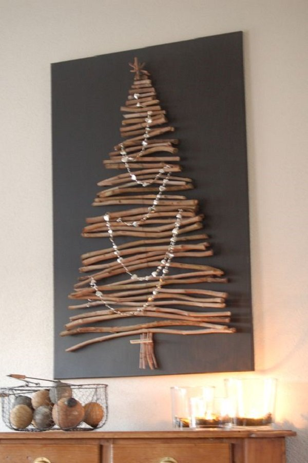 новогодняя елка из сизаля