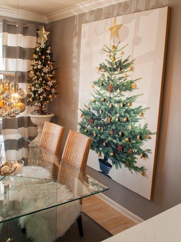 современный дизайн новогодней елки
