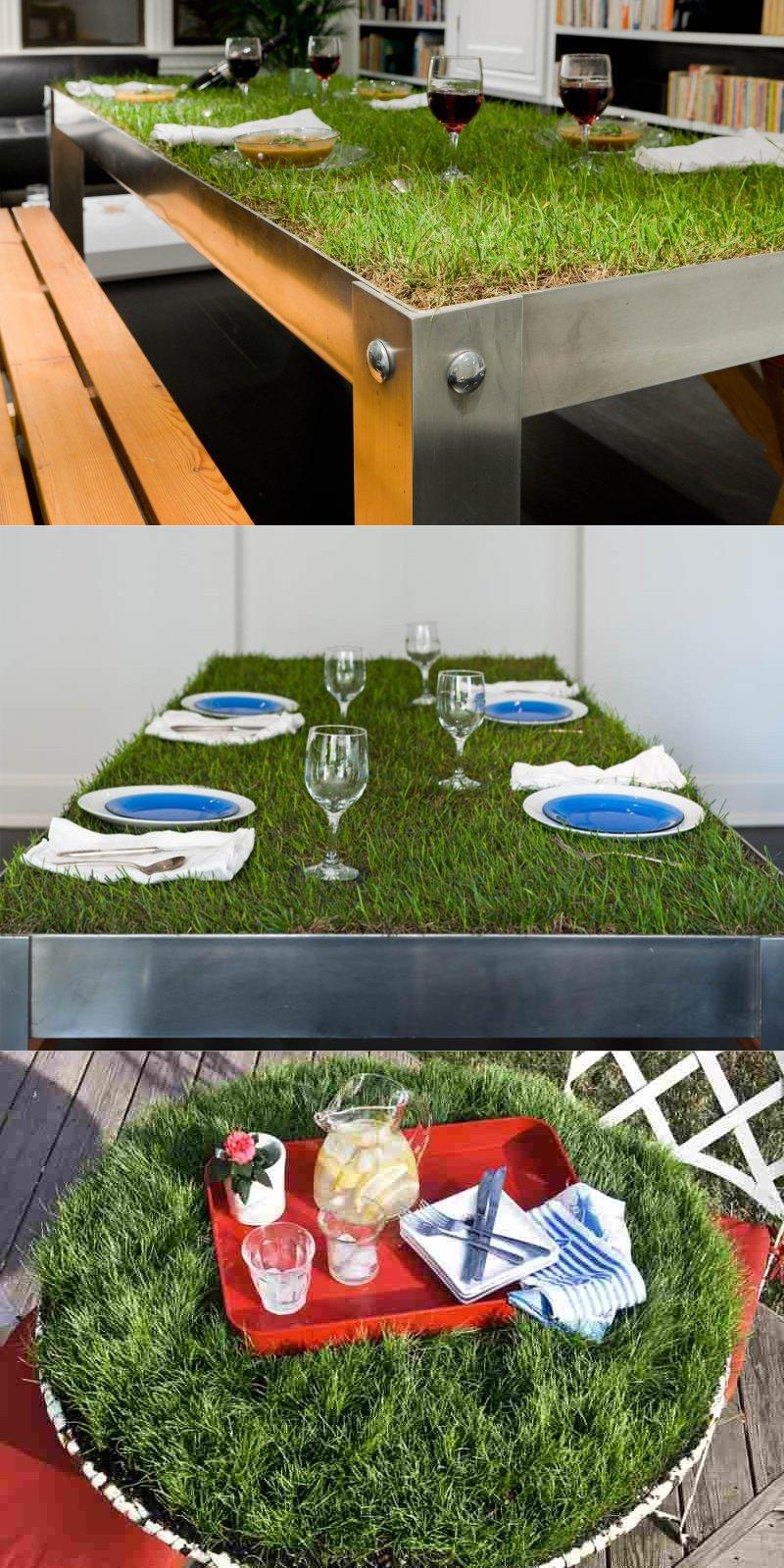 стол из травы