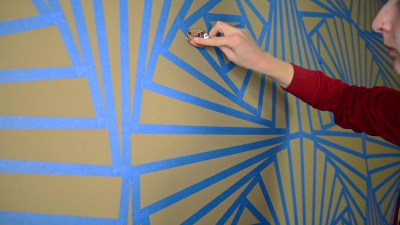 дизайн стен в комнате краской