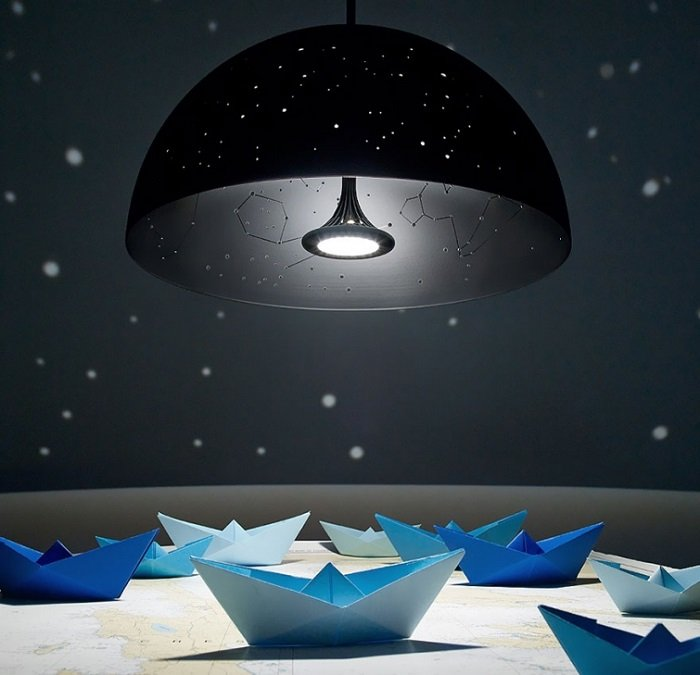 дизайн светильников в натяжном потолке