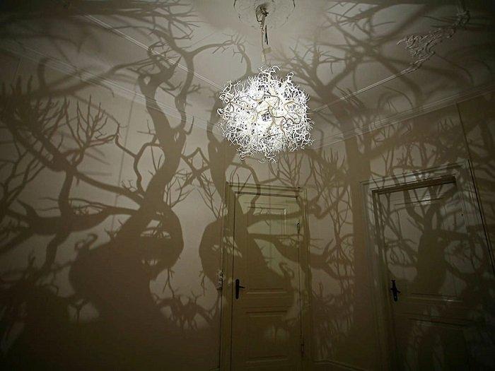 дизайн точечных светильников в ванной