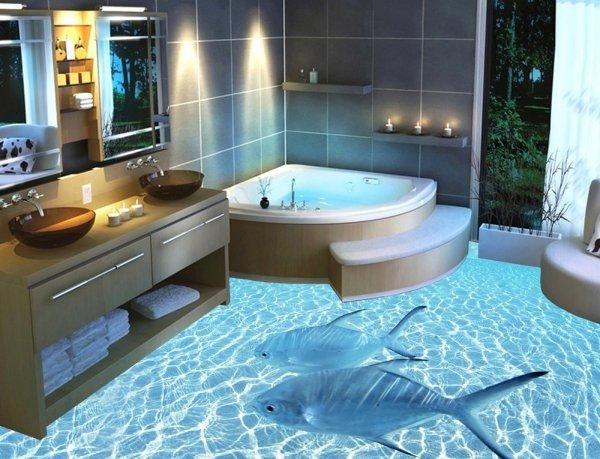 объемный пол в ванной