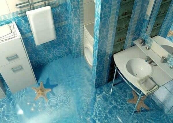 объемный дизайн ванной