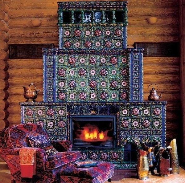 дом в стиле русской усадьбы