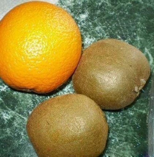 киви, апельсин