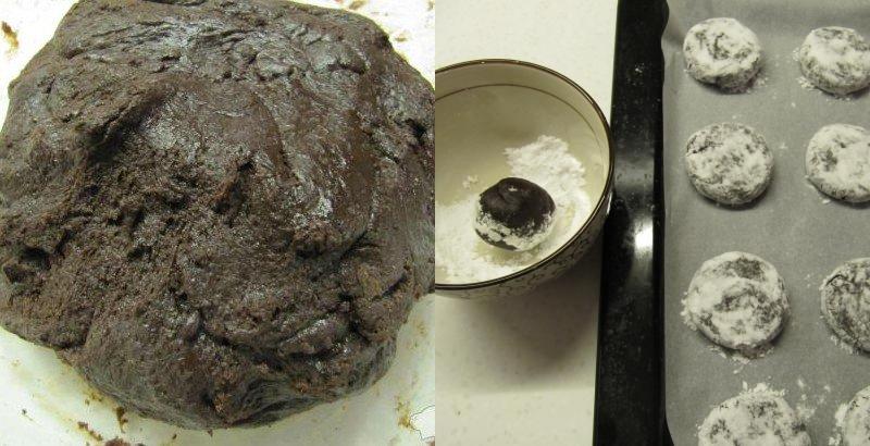 треснутое шоколадное печенье рецепт