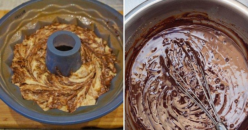 кекс мраморный в духовке