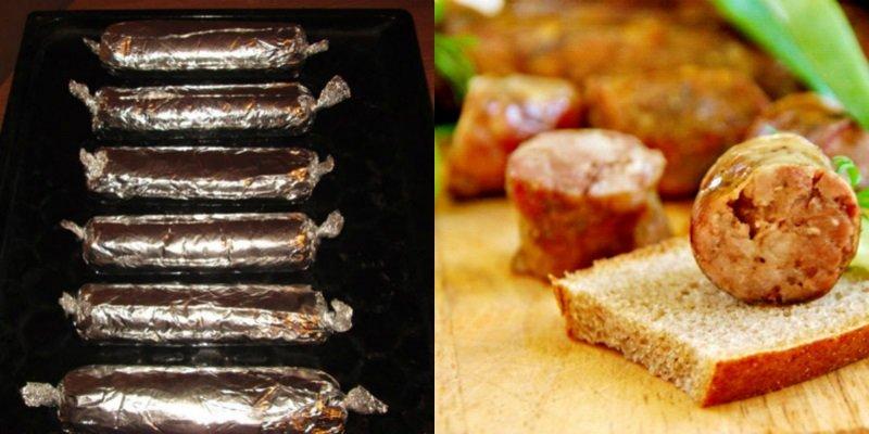 домашняя колбаса без кишок в духовке