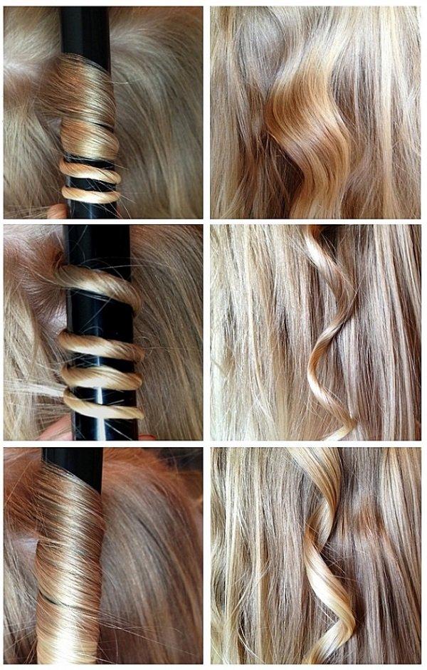 разные завитки волос