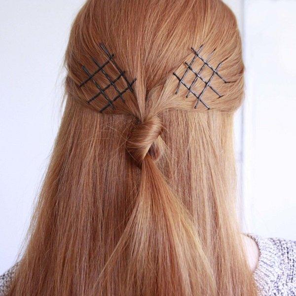 узел на волосах