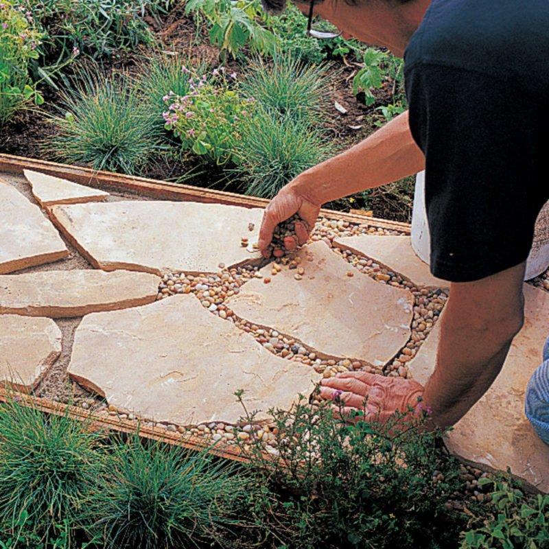 дорожки в саду эконом вариант