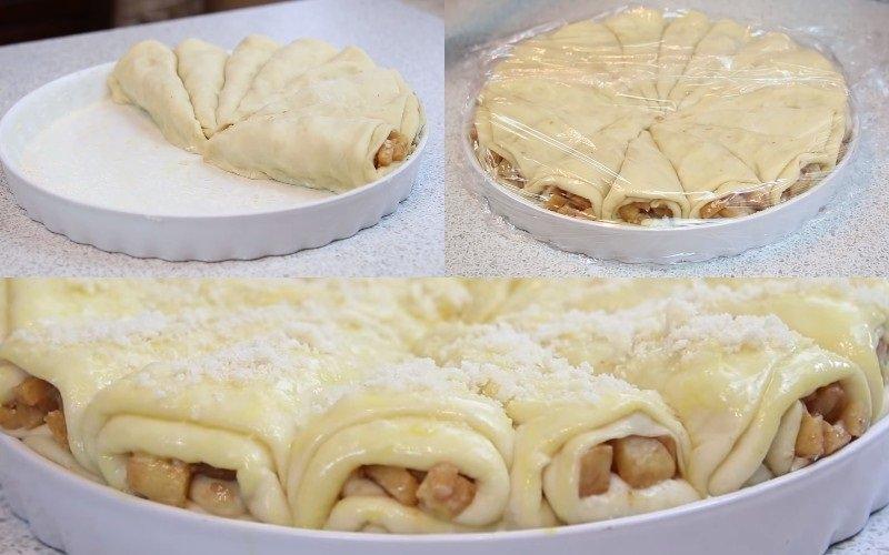 как приготовить дрожжевой яблочный пирог