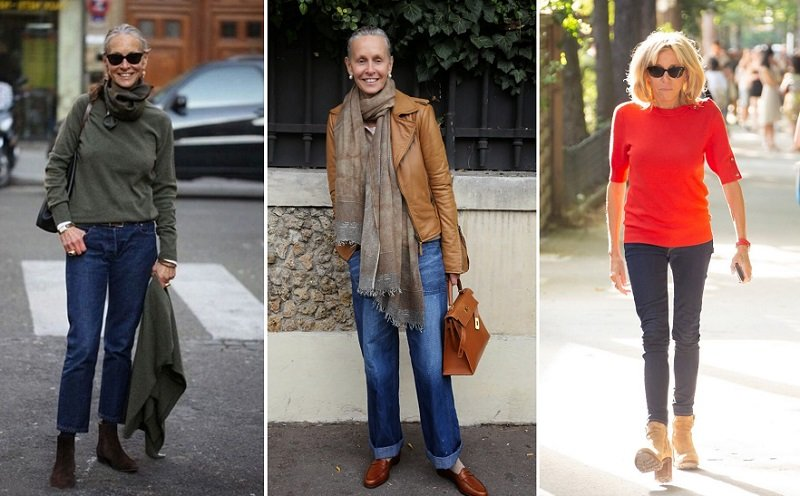 джинсы для женщины 50 лет