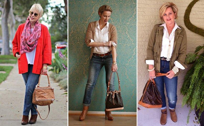джинсы для женщин за 50 лет