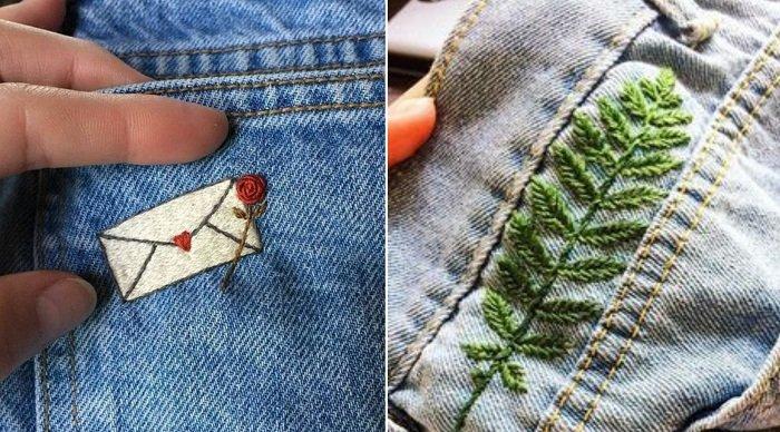 декор джинсовой ткани