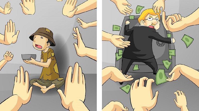 бедные и богатые люди