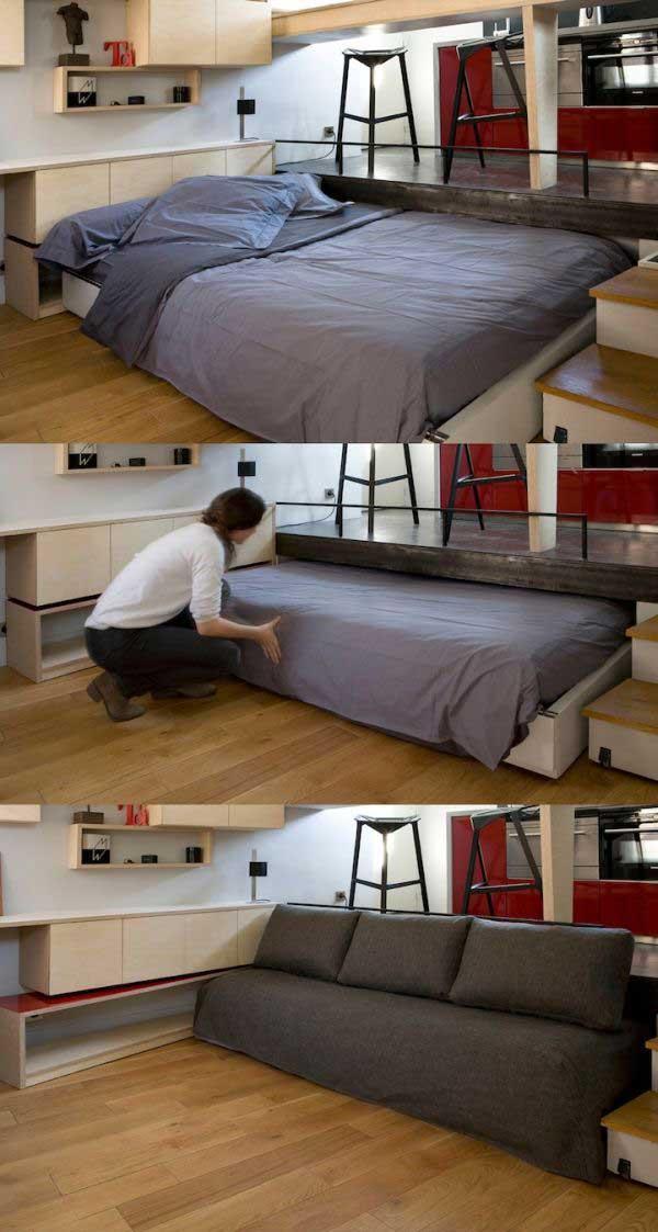 экономия пространства в маленькой квартире